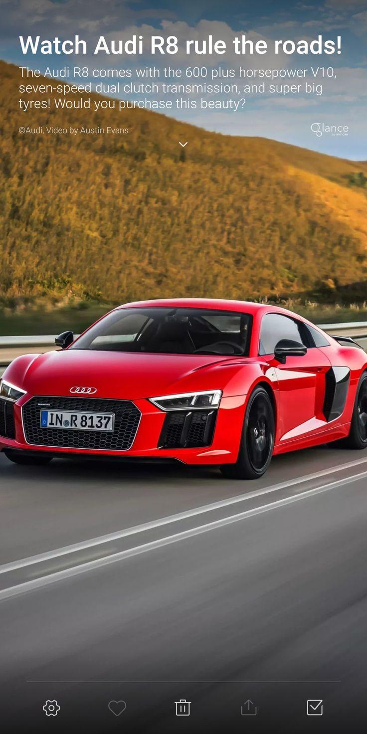 Audi r8 car road highway red and black ride audi r8 car