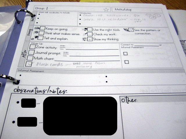 KindergartenWorks: creating a guided math binder