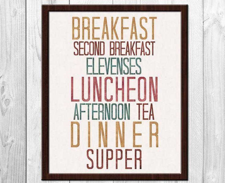 Seven Hobbit Meals