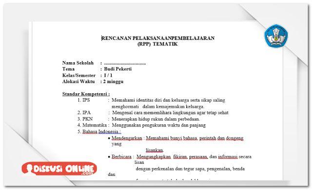 Berkas Guru Sekolah: Kumpulan RPP Dan Silabus SD KTSP 2006 Lengkap Terbaru [Dokumen Pendidikan]