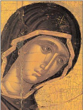 Άγγελος-Η Θεοτόκος από τη δέηση (Αγία Μονή Βιάννου)