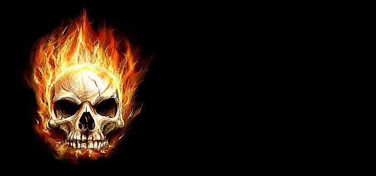 картинки черепов в огне с костями образом телки размещают