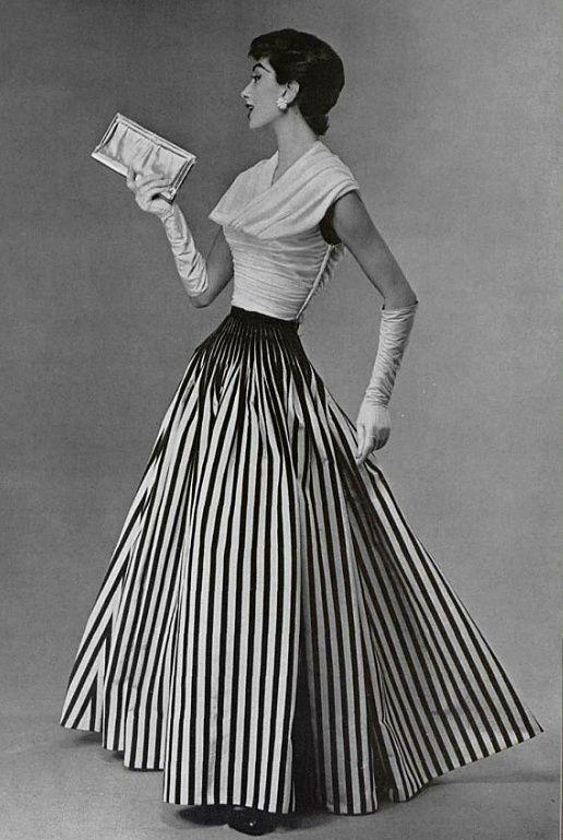 1955 Nina Ricci #Vintage #Fashion #Chic