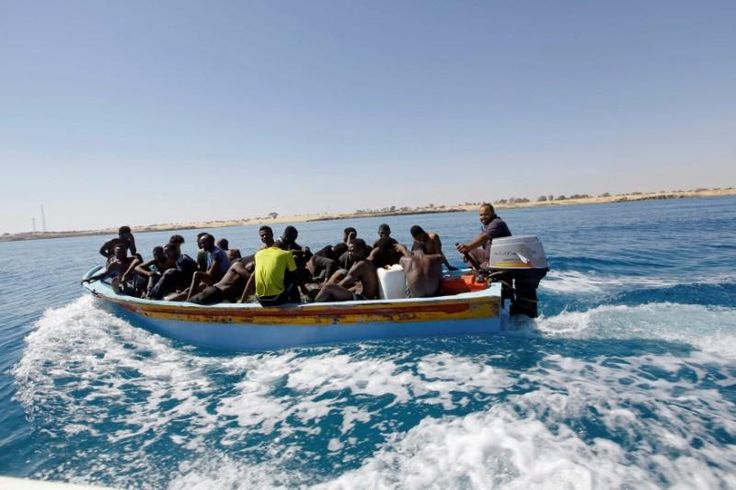 Libyan coast guards rescued about 85 migrants off the shore east of Tripoli on Saturday but about 40 more migrants were believed to be missing, a coast guard officer said.