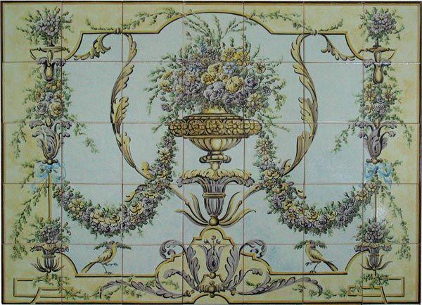 17th century potuguese tile murals spanish tile for Decorative spanish tile