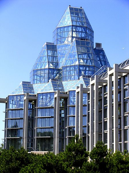 Blue Crystal Tower -National Gallery of Canada, Ottawa designed by Moshe Safdie