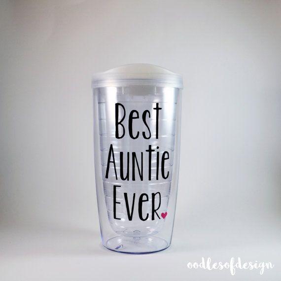 Best Auntie Ever Tumbler - Best Auntie, Auntie, Worlds Best Auntie, Soon to be Auntie, Pregnancy Reveal Auntie