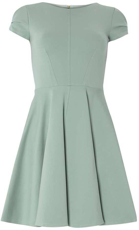 **Closet Mint Cap Sleeve Skater Dress