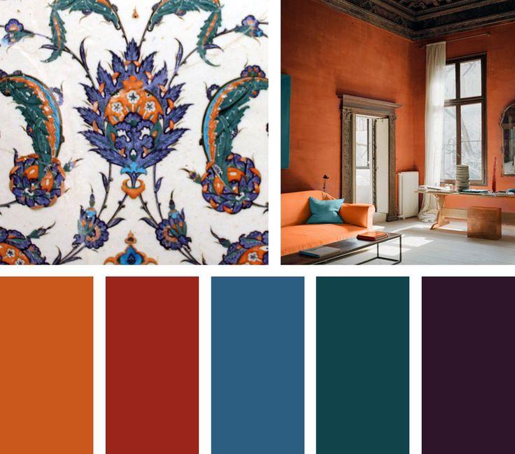 Las 25 mejores ideas sobre paletas de color naranja en - Pintura color vainilla ...