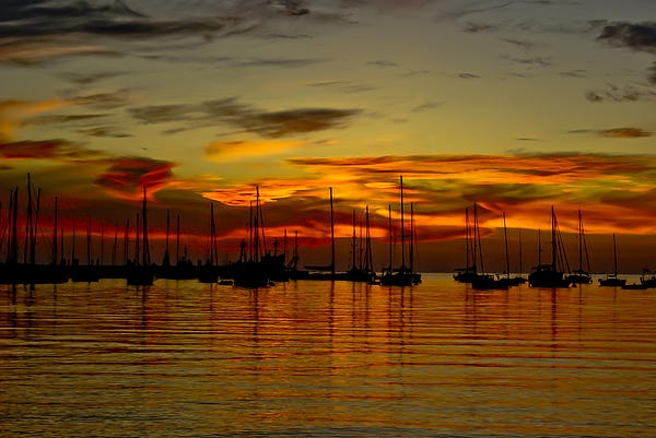 An incredible sunset in Colonia del Sacramento, Uruguay.