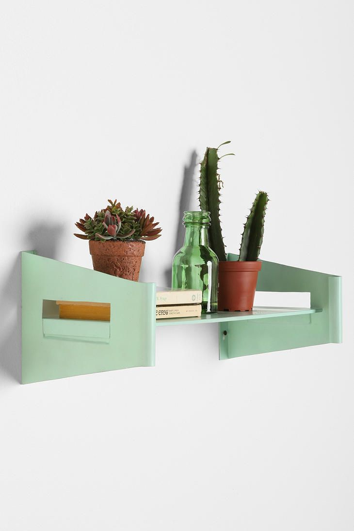 Bracket Wall Shelf  #UrbanOutfitters