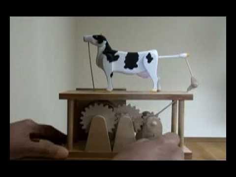 Automata からくり人形 Cow 牛 AQUIO NISHIDA original - YouTube