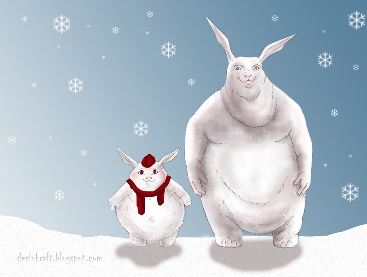 Itene: Big Buck Bunny and his little brother going to ski.