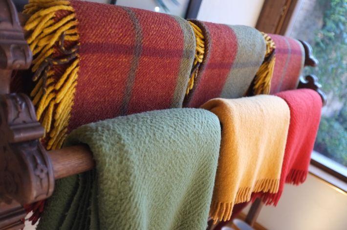 Blankets at Whatley Manor, Malmesbury.