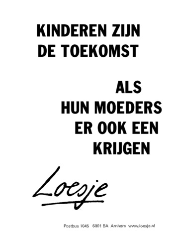 ... zegt Loesje