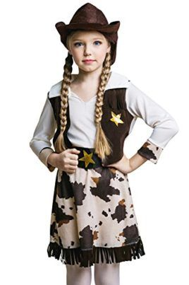 Kids Girls Sheriff Costume Rodeo Texas Cowgirl Wild West Party Outfit & Dress Up #Halloween #Cowgirl #Costume