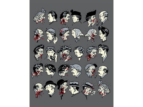 Blair Sayer's Zombie version on Norman Rockwell's gossip