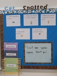 Get spotted for good behavior- Kindergarten behavior system