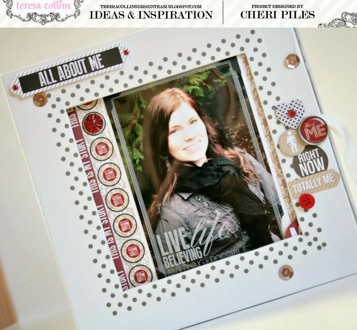 An Altered box mini album tutorial using the new collection Hello My Name Is collection by Teresa Collins