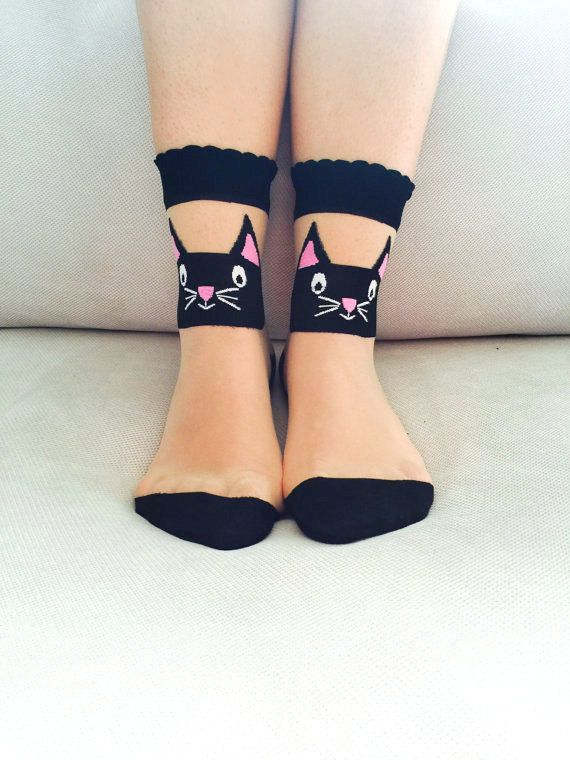 Hey, I found this really awesome Etsy listing at https://www.etsy.com/listing/239320973/ankle-socks-cat-socks-women-socks-cute