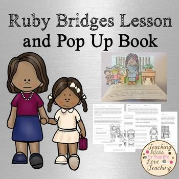 Ruby Bridges Lesson and Pop Up BookThis unit will allow your class to learn about Ruby Bridges and how she integrated New Orleans public schools. Once students, have finished learning about Ruby Bridges they can create their own Ruby Bridges pop up book.*****************************************************************************You May Also LikePresident Obama Lesson and Pop Up Book.Black History Month Lessons and Pop Up Book Bundle.Following The North Star: African American History…