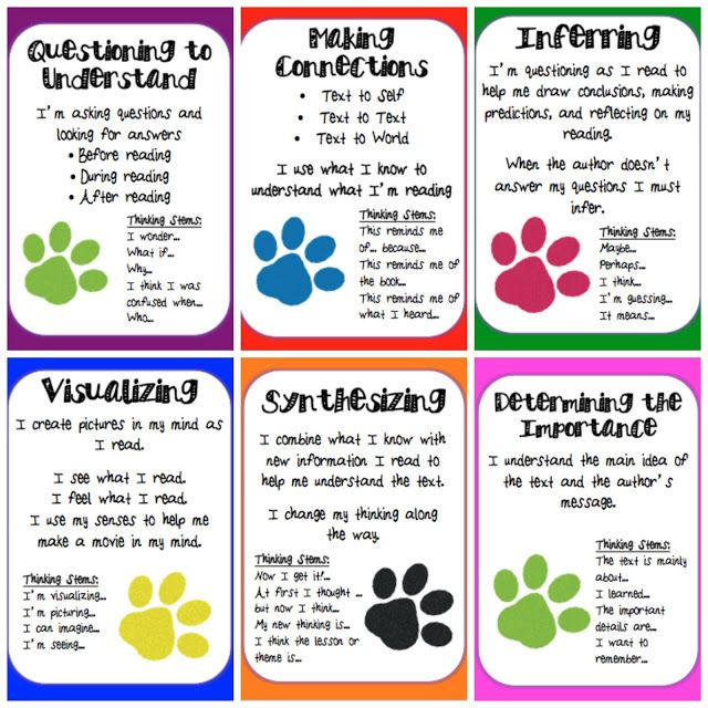 Reading Strategies Posters Printable | ... to Pinterest: Reading Comprehension Strategies Posters {FREEBIE