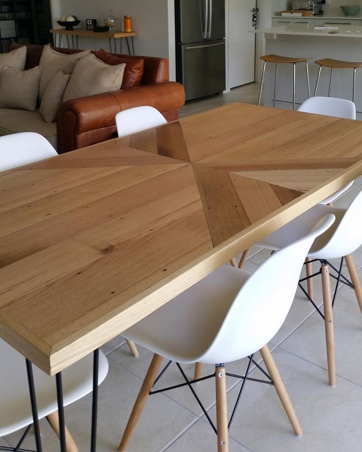 The 25 best Timber dining table ideas on Pinterest  : 7a6bbe21de615585a2d78294a0755c1e parquetry table timber dining table from www.pinterest.com.au size 736 x 919 jpeg 78kB