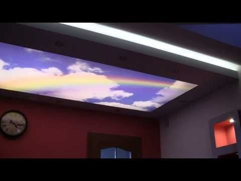 Podświetlenie sufitu. Oświetlenie LED i światłowodowe E-TECHNOLOGIA