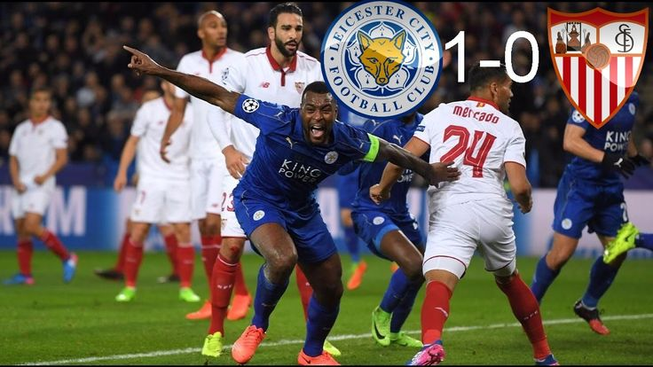 Wes Morgan goal-Leicester city vs sevilla 1-0 Champion league 14/03/2017