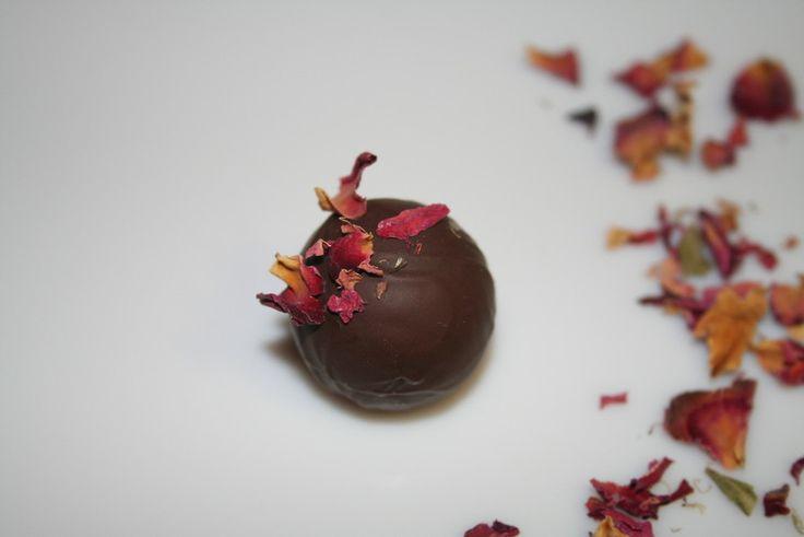 'Rose' Raspberry puree and rosewater truffle - Chokola'j, Chocolatiers, South Brisbane, QLD, 4101 - TrueLocal