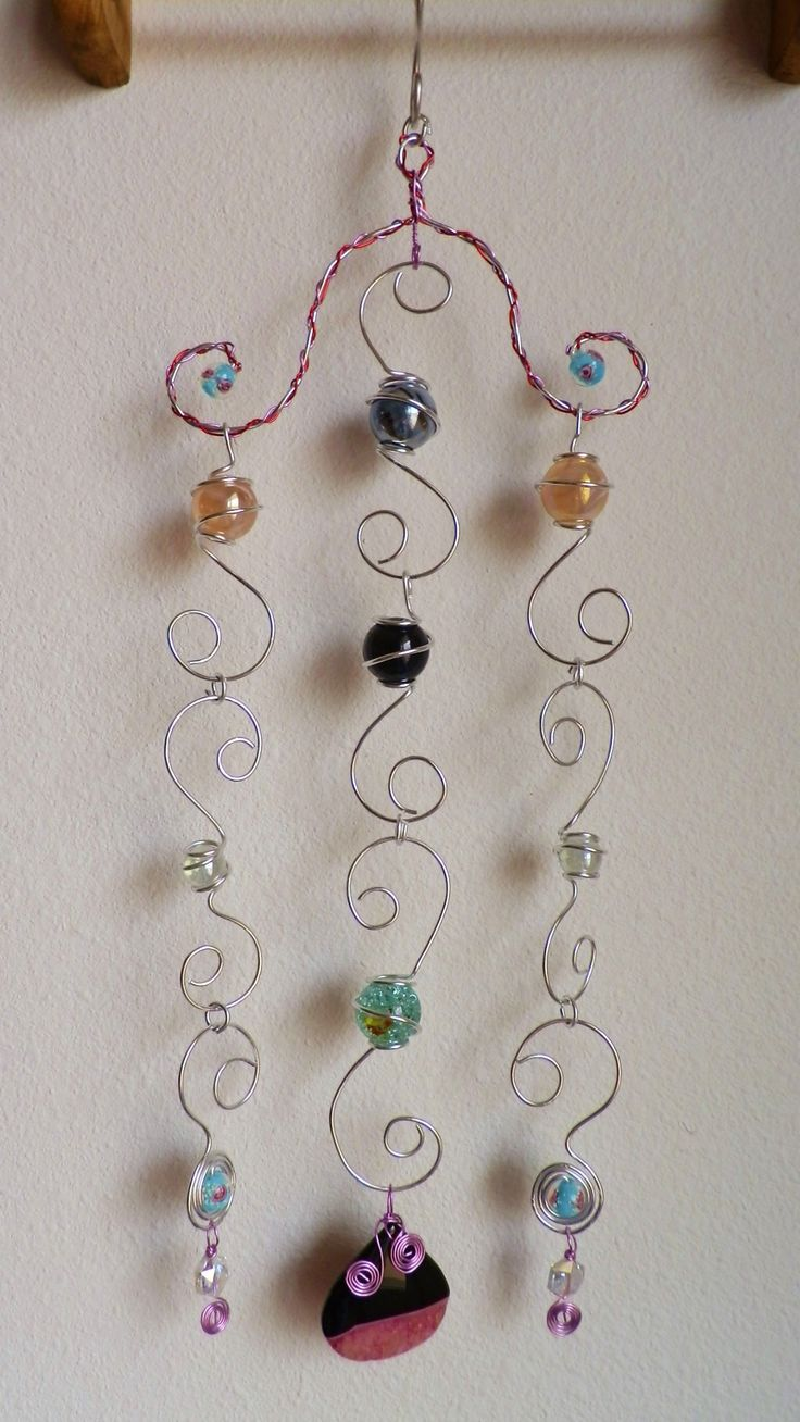 Wire Wrapped Marble Suncatcher Sun Catcher Wind Chime