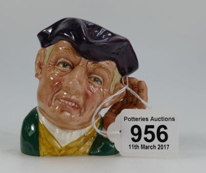Auction of 20th Century British Pottery, collectors items, household items, antique and quality furniture – Lot 956 – Royal Doulton small character jug Ard of Earing D6591
