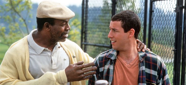 Adam Sandler and Carl Weathers in Happy Gilmore (1996)