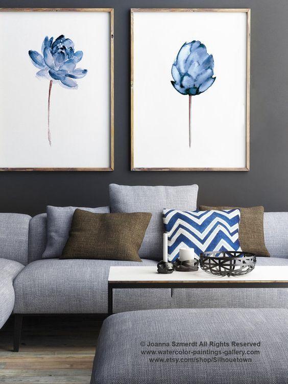 28-maneras-modernas-para-decorar-tu-sala-de-estar-con-cuadros (8) - Curso de Organizacion del hogar