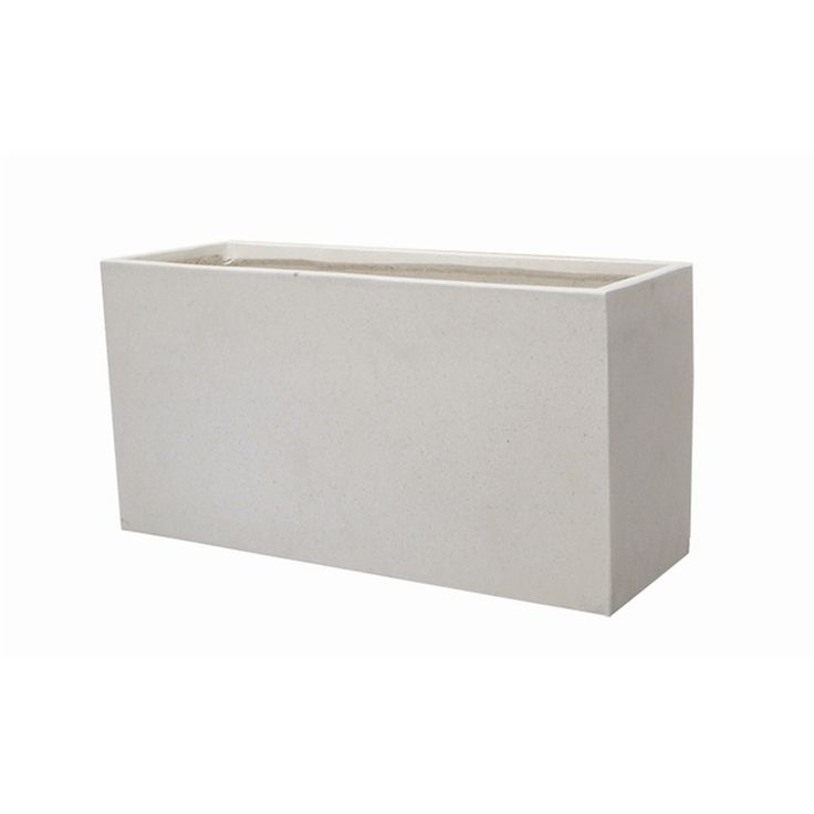 Northcote Pottery Precinct Lite 60 x 24 x 30cm White Terrazzo Trough