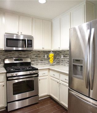 White Cupboards Stainless Steel Appliance White Kitchen With Stainless  Appliance Design Ideas Pictures Great Ideas