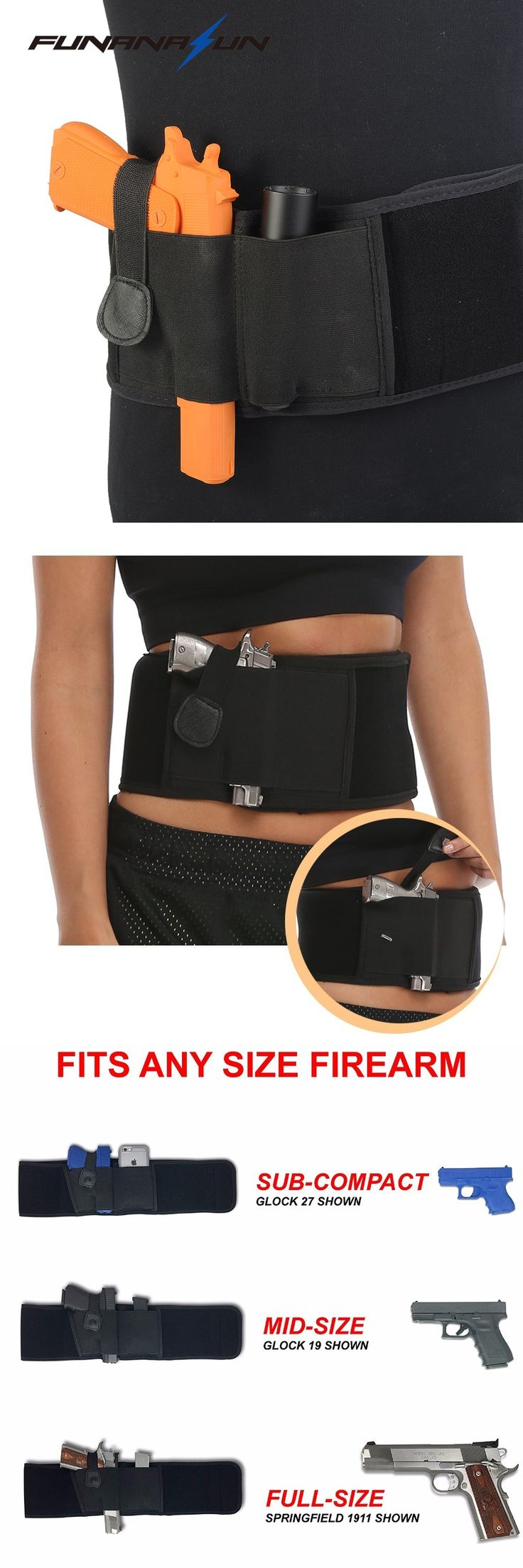 Concealed Handgun Carry Ultimate Belly Band Holster Glock Pistol  19, 17, 39, 42, 43, P238, Ruger LCP Holsters for Men and Women