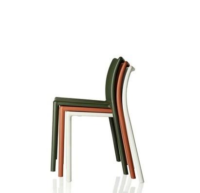 Air chair dark green and orange