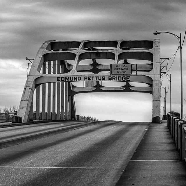 "The Edmund Pettus Bridge, Selma Alabama photo by @salvarezphoto (Stephen Alvarez) The celebration of Martin Luther King Jr's birthday seems like a good day to show this image. On March 7th 1965, ""Bloody Sunday"" some 600 civil rights marchers were headed east from Selma to Montgomery. As they crested this rise on the bridge they were attacked by Alabama State Troopers with tear gas and billy clubs. 17 marchers, including John Lewis, were hospitalized and 50 more were treated for lesser…"