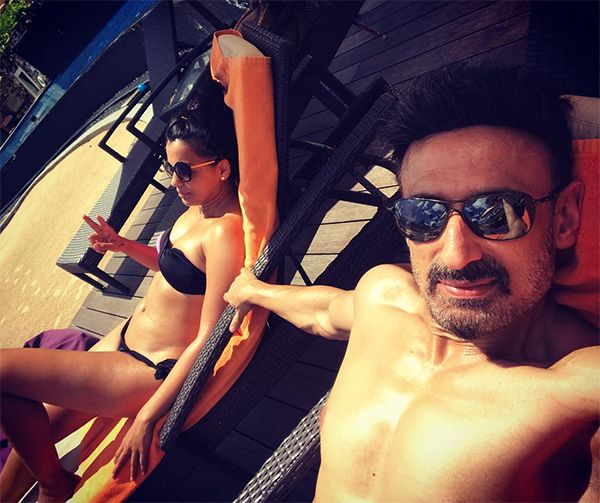 Lovebirds Mugdha Godse and Rahul Dev are holidaying in Sri Lanka – view pics #FansnStars