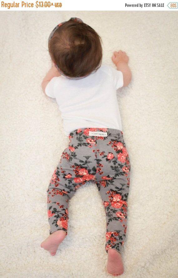 SALE Gray Floral Girl Baby Leggings/ Toddler Leggings/ Hipster Baby Outfit/ Preppy Baby Outfit/ Trendy Baby Leggings/ Baby Girl Leggings by SweetLucyJack on Etsy https://www.etsy.com/uk/listing/400432731/sale-gray-floral-girl-baby-leggings