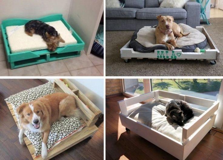 Cama de pallet para perro- modelos