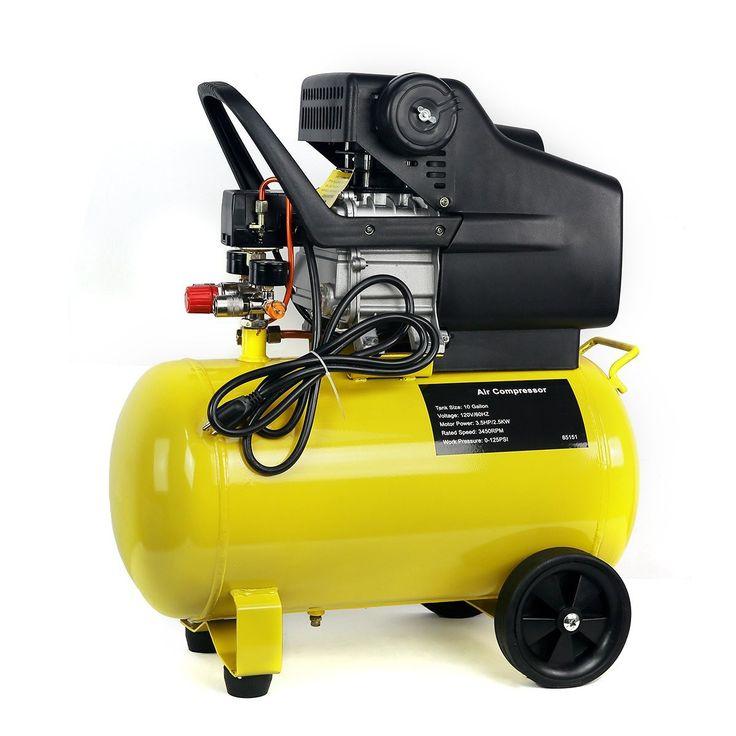 3.5HP 10 Gallon Pneumatic Portable Air Compressor With Tank