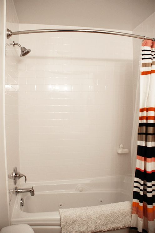 Bathroom Makeover With A Faux Subway Tile Surround