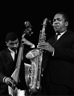 Paul Chambers & John Coltrane at the Masonic Auditorium, San Francisco, 1960