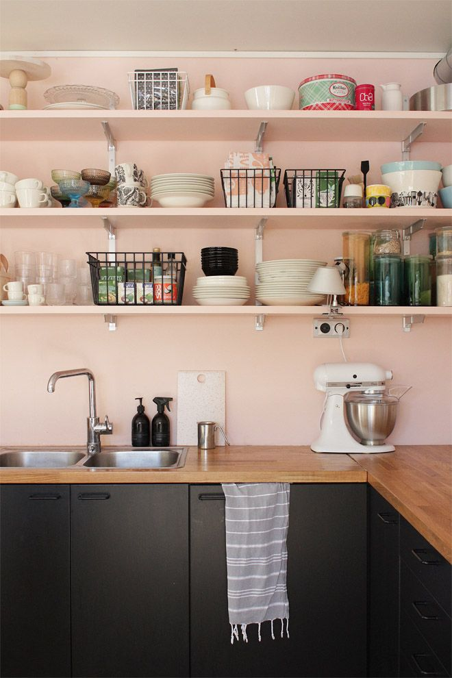 Pink Kitchen Cabinets 158 best cozinha | kitchen images on pinterest | kitchen
