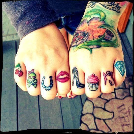 cute knuckle tattoos