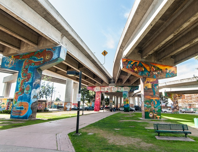 San Diego's Chicano Park Murals by ElArbolito, via Flickr