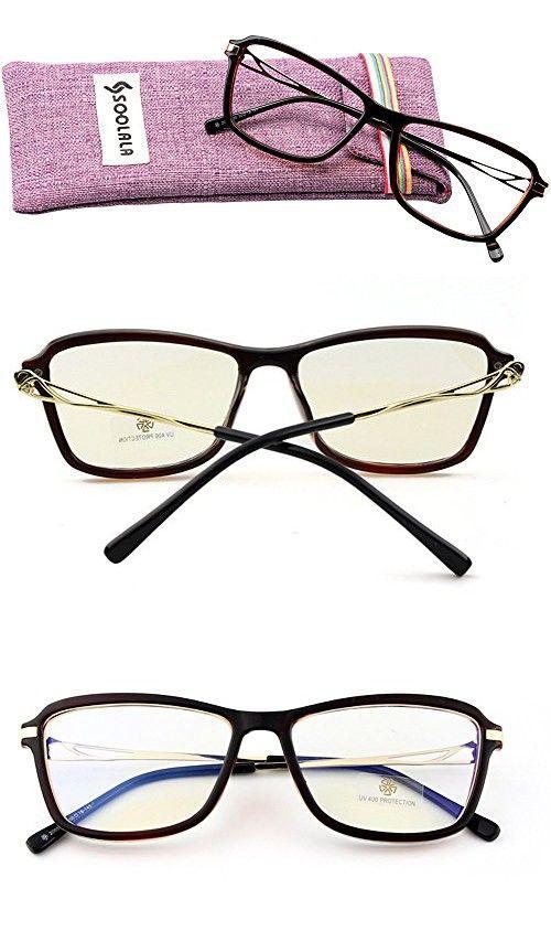 SOOLALA Mordern Fashion Oversized Wayfarer Stylish Reading Glasses for Womens, Tea,  4.0D