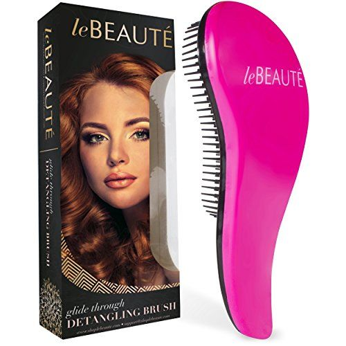 Le Beaute Detangling Hair Brush – Professional Salon Quality Wet and Dry Brush for Tangles w/ No Pain – Perfect For Thick, Wavy, Curly, or Thin Hair on Women, Girls and Kids  INNOVATIVE DESIGN - Using an ordinary hair brush can cause irreparable damage to your delicate locks, as it rips, tears, and pulls through your hair. Luckily, we've got you covered! The Le Beaute® Detangling Hair Brush is the best hair brush on the market. Our innovative design provides you with a quick, easy, a..